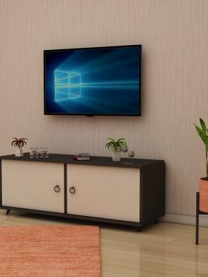 Lale Antrasit - Beyaz 2 Kapaklı TV Sehpası