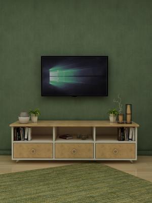Sümbül Beyaz - Sonoma 3 Çekmeceli TV Sehpası