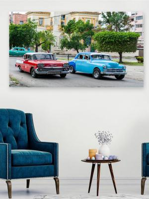 1 Parça Kanvas- Renkli Arablar Duvar Tablosu