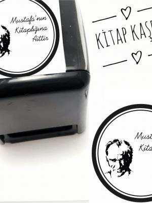 Atatürk Temalı İsim Yazılı Kitap Damgası- 218