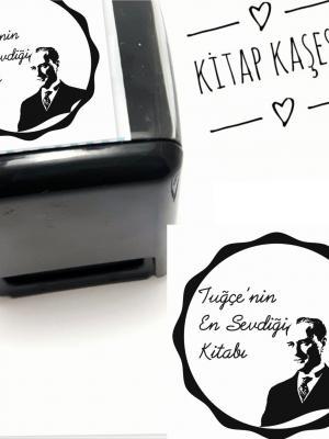 Atatürk Temalı İsim Yazılı Kitap Kaşesi- 220