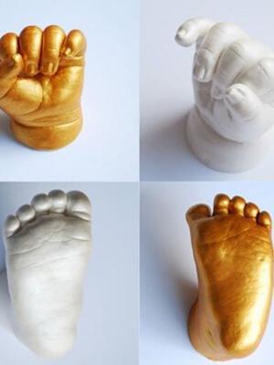 Bebek - Çocuk El - Ayak İzi Minik Heykel Seti