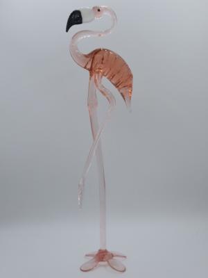 El Yapımı Murano Büyük Boy Flamingo Cam Biblo