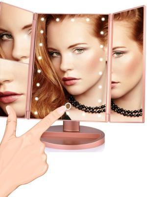 180 Derece Ayarlanabilir Led Dokunmatik Ekran Kapaklı Makyaj Masası Aynası Modeli