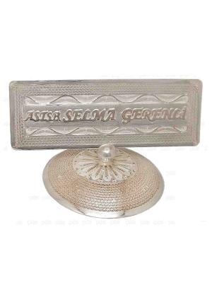 Midyat Telkari Gümüş Masa İsimliği Özel