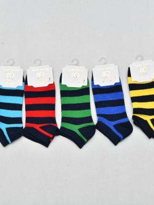 12'Li Çemberli Erkek Çocuk Patik Çorabı - Karışık