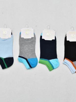 12'Li Renkli Erkek Çocuk Patik Çorabı - Karışık
