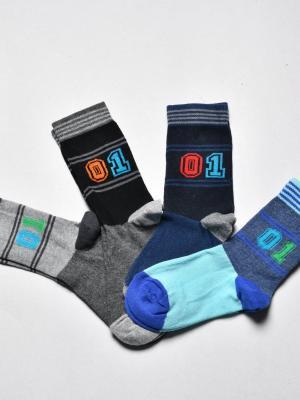 12'Li 01 Sayılı Erkek Çocuk Soket Çorabı - Karışık