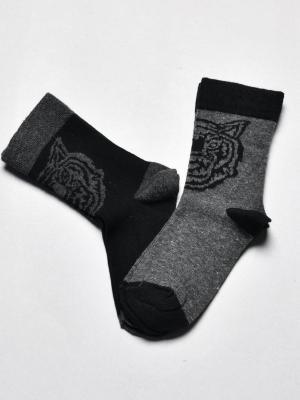 12'Li Kaplan Desenli Erkek Çocuk Soket Çorabı - Karışık