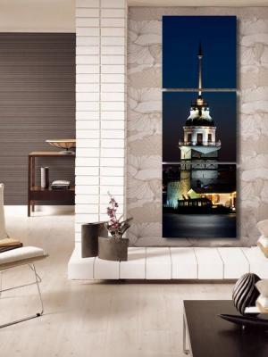 3 Parça Kanvas- İstanbul-Kız Kulesi Duvar Tablosu