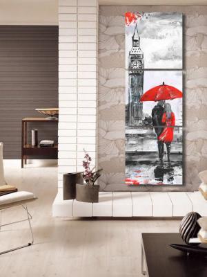 3 Parça Kanvas- İstanbul-Saat Kulesi Aşıklar Duvar Tablosu