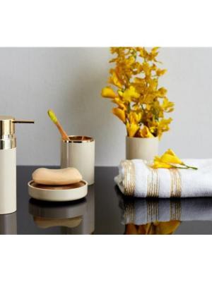 Primanova Lenox 5 Parça Banyo Seti Bej Altın