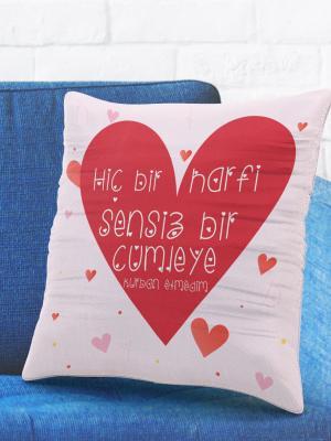 Romantik Tasarımlı Yastık Kılıfı No4