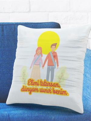 Romantik Tasarımlı Yastık Kılıfı No16