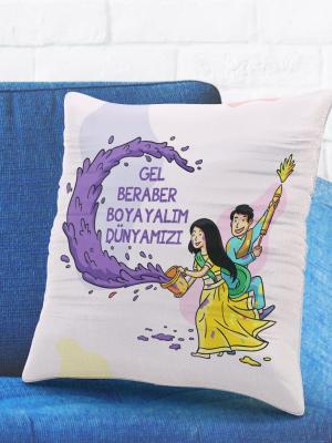 Romantik Tasarımlı Yastık Kılıfı No24