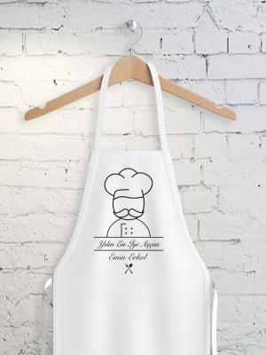 Kişiye Özel Yılın En İyi Aşçısı Beyaz Mutfak Önlüğü