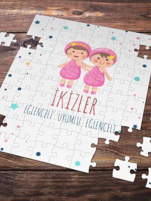 İkizler Burcu Temalı 99 Parça Puzzle
