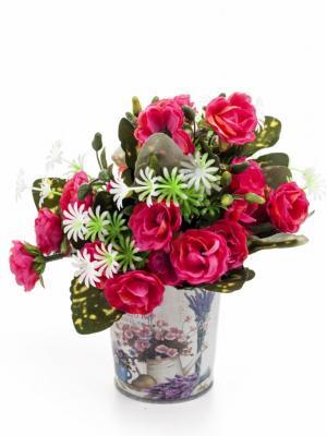 Decotown Metal Çiçek Desenli Oval Saksı