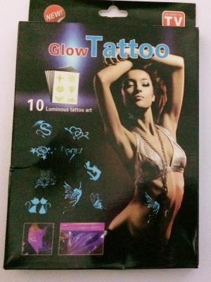 Geçici Fosforlu Dövme Seti Glow Tattoos