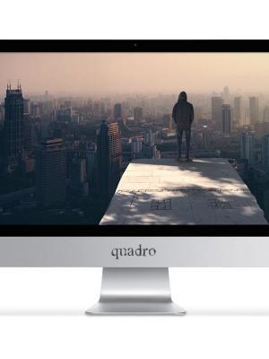 """QUADRO AIO RAPID HM8122-46815 I5-4670T 8GB 1TB+128GB SSD 21.5"""" DOS"""