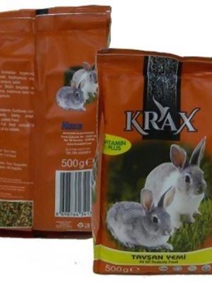 Krax Vitaminli Tavşan Yemi Tam Yem500 Gr