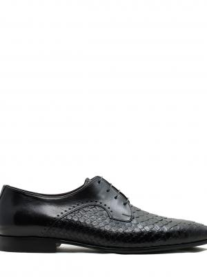 BUFFALO BLACK PYTHON LEATHER İTALY HAND CRAFTED LEATHER