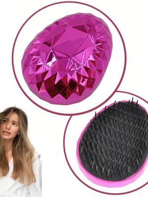 Buffer Neon Pembe Düzleştirici Tarak Geniş AralıklıHer Saç Tipine Uygun Fırçalı Saç Düzleştirici
