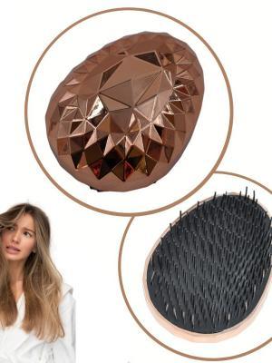 Buffer Rose Gold Saç Düzleştirici Tarak Geniş AralıklıHer Saç Tipine Uygun Fırçalı Saç Düzleştirici