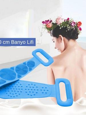 Çift Taraflı Banyo Hamam Lifi Silikon Masajlı Yumuşak Duş Lifi Uzun Ömürlü Hazır Banyo Kesesi