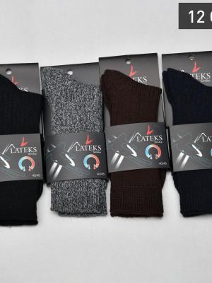 12Li Termal Erkek Soket Çorabı - Karışık