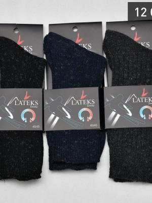 12Li Termal Kırçıllı Erkek Soket Çorabı - Karışık