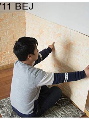12 Renk Seçenekli Kendinden Yapışkanlı Duvar Paneli 70*38 cm