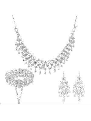 Mardin Gümüş Kişniş Set Takı 3 Sıralı
