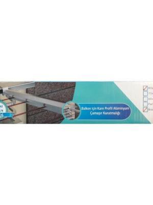 Koral Alüminyum Balkon Çamaşır Kurutma Askılığı 80x30