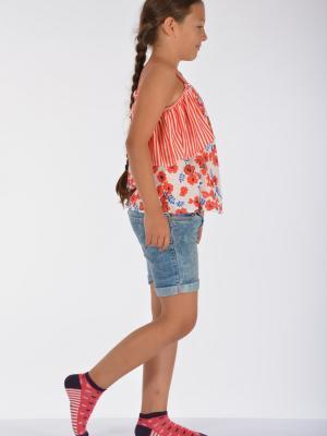 Idilfashion Kalp Desenli Yazlık Kız Çocuk Patik Çorabı Ç-ART103 (3'LÜ PAKET)