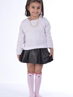 Idilfashion 3D Kız Çocuk Dizaltı Çorabı Ç-ART186 (TEKLİ)