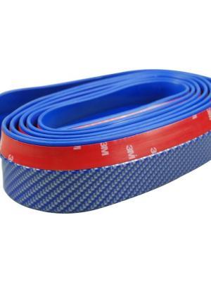 Mavi 2,5 Metre Araba Oto Ön Tampon Koruyucu Kauçuk Pratik Tampon Şerit Bant Döşeme Kiti