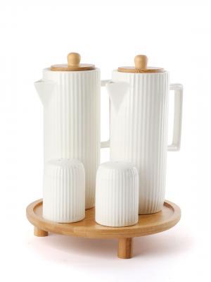 EW's Bambu Standlı  4 Lü Yağlık Sirkelik Seti