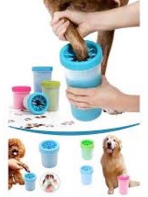 Petzoom Büyük Boy Köpek Pati Temizleme Ve Yıkama Bardağı Mavi