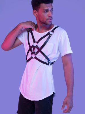 Şık Tasarım Erkek Deri Fantazi Harness 1161