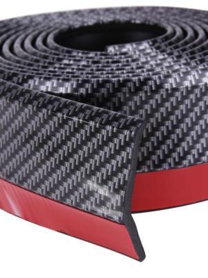Siyah 2,5 Metre Araba Oto Ön Tampon Koruyucu Kauçuk  Pratik Tampon Şerit Bant Döşeme Kiti